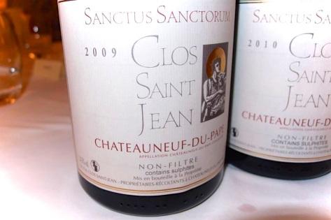 Clos Saint Jean Sanctus Sanctorum 2009 et 2010